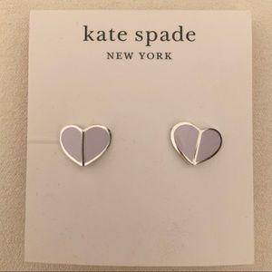 Kate Spade Enamel Stud Earrings in Frozen Lilac